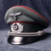 Artillery Officers Peak Visor Cap.  A.R.8. Member. 'Double Erel.'