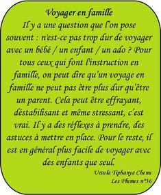 "Dossier ""Voyager en famille"", instruction en famille - Les Plumes n° 36"