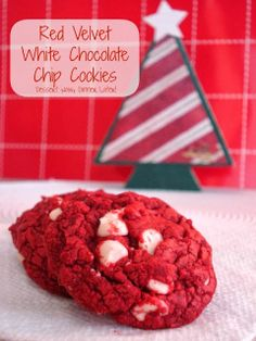 Red Velvet White Chocolate Chip Cookies with a Cake Mix