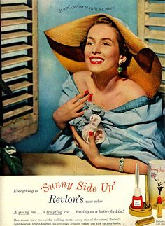 Revlon, 1948   I was a year old and I remember my Mom and myself wearing taffeta.