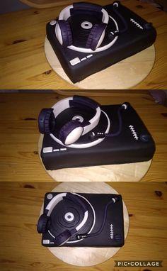 gramophone with headphones