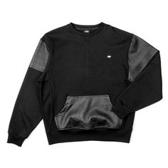 Rocksmith Clothing Uptown Crewneck in Black | Rocksmith Winter 2013 |... ($88) ❤ liked on Polyvore featuring tops, sweaters, outerwear, shirts, black crewneck sweater, rocksmith, black sweater, crew neck shirts and black crew neck shirt