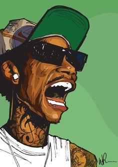 Wiz Khalifa -- by Will Prince