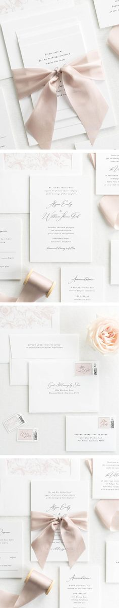 The Alyssa wedding invitation collection is perfect for any light and airy wedding. #WeddingInvitationIdeas