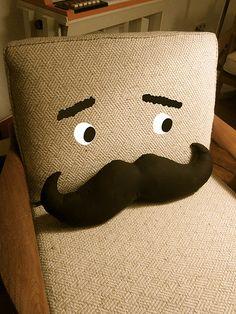 mustache pillow-soooo, yeah I need one right away!