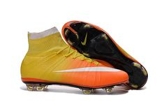 low priced 4bf20 b6994 Nike Mercurial Superfly X FG Yellow Red Kids Soccer Cleats, Nike Soccer  Shoes,