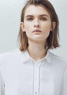 Crochet panels shirt