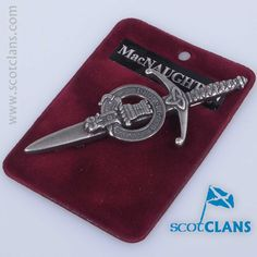 MacNaughton Clan Crest Kilt Pin. Worldwide Shipping Available