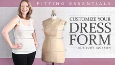Make fitting, designing and altering garments easier and more effective. Customize any dress form to replicate your body perfectly.