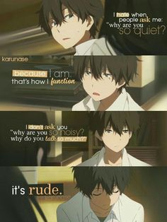 Hyouka || Anime Quotes