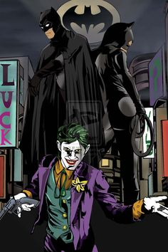 Batman, Joker and Catwoman I Am Batman, Batman And Catwoman, Batgirl, Superman, Nananana Batman, Comic Art, Comic Books, Batman Artwork, Joker Art