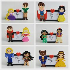 Frames Disney couples perler beads by burritoprincess