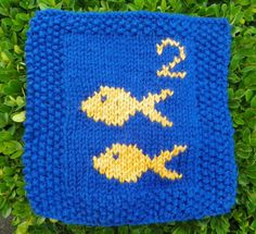 Two fish from Arlene G. www.knit-a-square.com