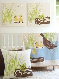 Amenity Nursery - Wetlands Organic Crib Bedding - modern - baby bedding - - by Design Public Frog Nursery, Duck Nursery, Animal Nursery, Nursery Rhymes, Girl Nursery Themes, Baby Boy Nurseries, Nursery Decor, Nursery Ideas, Nature Themed Nursery