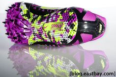My track spikes! Just pink. Running Track, Running Gear, Trail Running Shoes, Track And Field Spikes, Running Spikes, Athlete Motivation, Racing Shoes, Running Shoe Brands, Nike Clothes