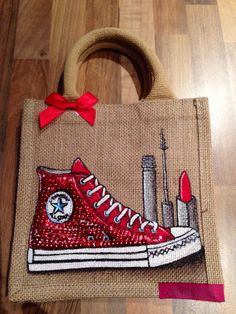 Emily-em Original Bag Designs Sequinned Converse on a bag!