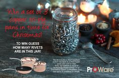ProWare rivet competition now closed, Christmas 2012 Competition, Jar, Christmas, Xmas, Weihnachten, Navidad, Yule, Noel, Kerst
