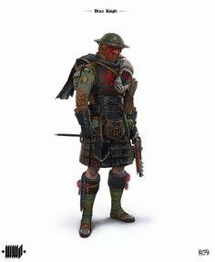 Draco Knight by Andrius Matijosius : ImaginaryCharacters Fantasy Armor, Sci Fi Fantasy, Armor Concept, Concept Art, Character Concept, Character Art, Steampunk Armor, Pulp, Alternate History