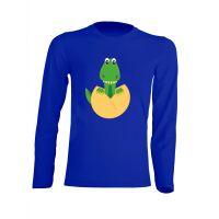 Camiseta Manga Larga Dino Azul Royal