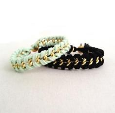 DIY Tutorial DIY Friendship Bracelet / DIY Bracelet: Cross Style Chain Woven Bracelet - Bead&Cord