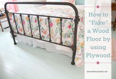 How to Fake a Wood Floor with Plywood!  simple and easy tutorial!!