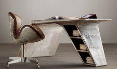 Aviator Wing Desk, $1750 #Office #Workspace