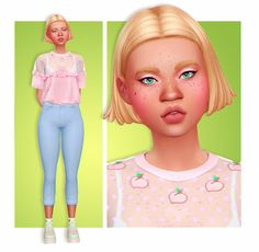 SIM REQUEST hope this is okay- I'd like to request a clumsy/gloomy young adult girl? pastel colours would be nice, everything else is up to you! Sims Four, Sims 4 Mm Cc, Sims 4 Mods Clothes, Sims 4 Clothing, Sims4 Clothes, Sims 4 Characters, Sims 4 Cc Packs, Sims 4 Toddler, Sims 4 Cas