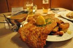 Weiner schnitzel...it doesn't get much better than this!