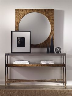 Vanguard Furniture: Room Scene MW_W334S-NB_W357M-NB. console available in other finishes.  Harrison Gray? 32 H  56 W  15 D