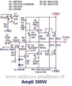 1500 watt high power amplifier amp circuit diagram amplifier ampli 300w ultra simple schema et typon 2 keyboard keysfo Gallery