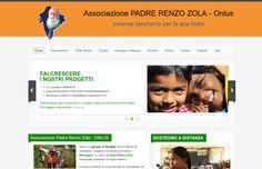 PORTFOLIO: progettazione e realizzazione sito internet Associazione Padre Renzo Zola www.http://padrerenzo.org