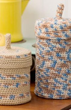 "These ""Crochet Keepers"" would be good to store all kinds of things!"