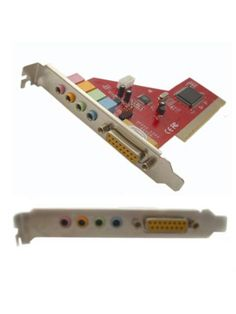 PCI Sound Card with Game Port Interfaces/Ports: 1 x 15-pin - (MIDI device/Serial joystick), 1 x 3.5mm Audio Line In - (For Auxiliary devices such as CD Players, Cassette Decks, Stereo Receivers etc.), 1 x 3.5mm Audio Line In - (Microphone In), 1 x 3. Harga rp95.000 Dapatkan dgn harga spesial khusus member di : www.tokomipo.com