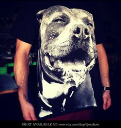 27ae8e3e Pitbull Dog Tshirt custom local photography by Dylan Jon Wade Cox. Hand  screen printed tshirts in all sizes. Dog lovers must have!