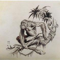 """Tarzan at the Earth's Core"" sketch, 1962                                                                                                                                                                                 More"