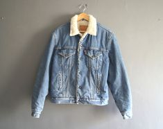 Vintage Levis Sherpa Fleece Lined Denim Jacket by MotorTownVintage ...