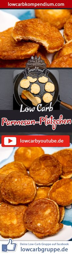 Parmesan-Plätzchen – Low-Carb Snack überraschend herzhaft The low carb Parmesan biscuits are a perfect snack in between, when you want to snack on a hearty snack on a relaxed evening. And now we wish you a lot of fun cooking, LG Andy & Diana. Healthy Low Carb Snacks, Low Carb Veggies, High Protein Snacks, High Protein Low Carb, Low Carb Keto, Protein Desserts, Low Carb Desserts, Low Carb Recipes, Low Carb Crackers