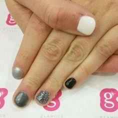 "People tell us all the time ""My nails are too short for gels."" Wrong! Glamour Gels give your natural nails a strong, protective layer that will help them grow! #naturalnails #bestgelever #winternails #ombrenails #glamourgels"