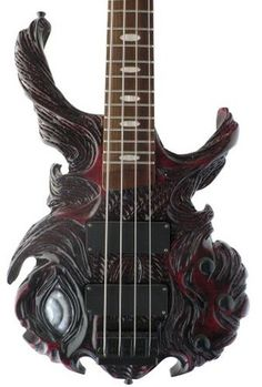 Custom Hand Carved Guitar @Mark Van Der Voort Ramirez you NEED to get this! or just start chopping up your guitar! :)