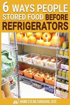 6 Ways People Stored Food Before Refrigerators Homestead Survival, Survival Food, Survival Prepping, Emergency Preparedness, Prepper Food, Survival Supplies, Wilderness Survival, Survival Skills, Survival Weapons