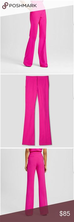Victoria Beckham Target Fushia Twill Flare Pant A chic option for the office or the weekend, these Women's Fuchsia Twill Flared Trousers by Victoria Beckham for Target add a pop of vibrant color and streamlined style to your casual and professional outfits. The Victoria Beckham collection for Target celebrates the shared experiences between Victoria and her daughter. The result is a look that's fashionable, yet free-spirited and timeless. Victoria Beckham Pants Boot Cut & Flare