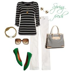 Hamptons Style with a Touch of Green