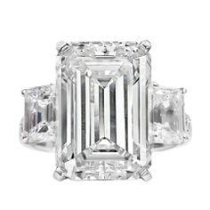 Spectacular 9.38 Carat GIA Emerald Cut Diamond Ring