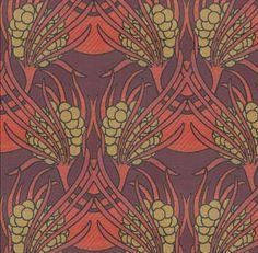 Koloman Moser Wiener Werkstätte Art Nouveau upholstery fabric