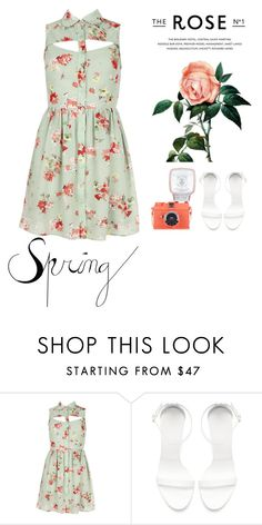 """""""Spring Dress"""" by tamar-faggen ❤ liked on Polyvore featuring Zara"""