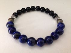 PROSPERITY Men's bracelet lapis lazuli by GinasCreativeDesigns