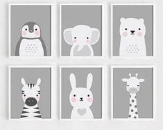 Printable Nursery Art Set of 3 Poster Baby room Wall art Kids room decor Black and White Be happy, Panda, Dream big poster print set 50 x 70 - Kinderzimmer Jungs - Baby Room Wall Art, Kids Room Art, Baby Art, Baby Room Decor, Nursery Wall Art, Nursery Decor, Art For Kids, Paintings For Kids Room, Moon Nursery