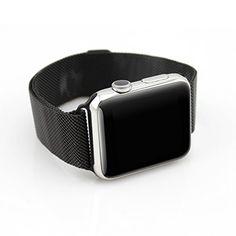 Japace® Milanaise Uhrenarmband mit Magnetschließe aus Metall Uhrband Watch Wrist Strap Replacement Zubehör für alle Versionen der 42mm Smartwatch Apple iWatch Sport / Edition - Schwarz - http://uhr.haus/japace/42mm-japace-milanaise-uhrenarmband-mit-aus-watch-2