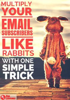 Multiply Your Email Subscribers Like Rabbits (with this simple trick) http://madlemmings.com/2014/11/24/wordpress-popup-plugins/ #marketing #wordpress