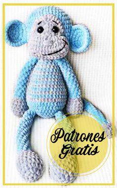 Crochet Squares, Chihuahua, Smurfs, Free Pattern, Amigurumi Free, Dinosaur Stuffed Animal, Teddy Bear, Diy Crafts, Blanket